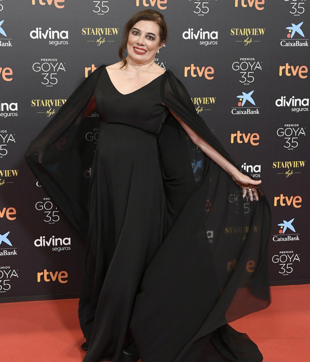 Chus Gutierrez en la alfombra roja de los Premios Goya 2021