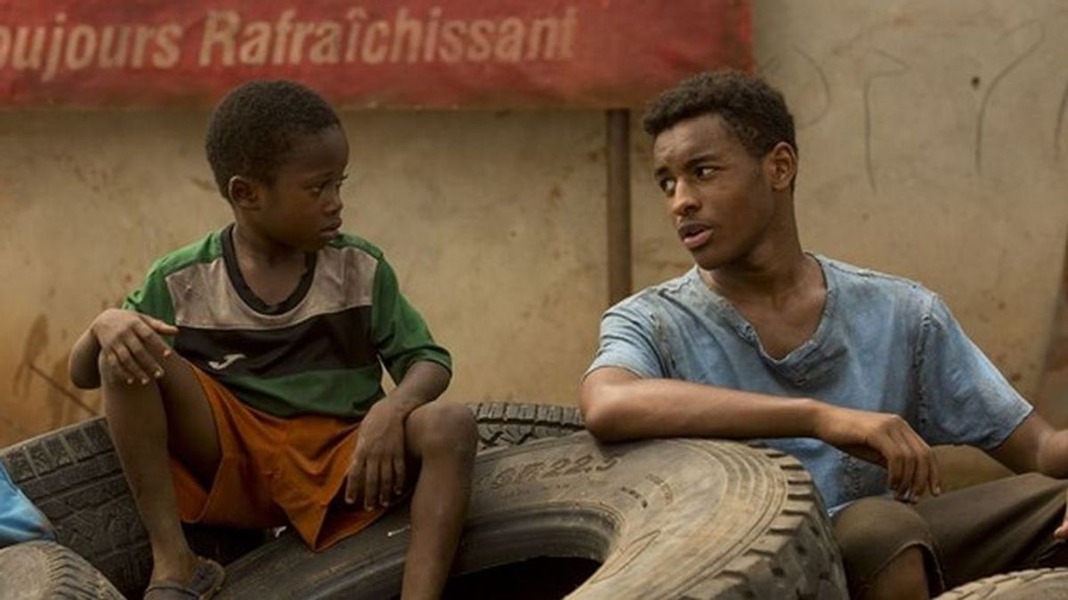 Moustapha Oumarou y Adam Nourou, en 'Adú'.