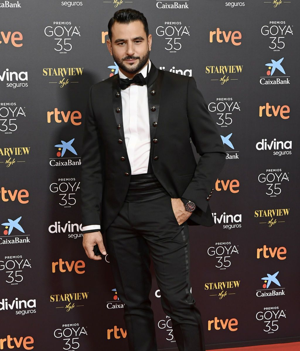 Antonio Velázquez en la alfombra roja de los Premios Goya 2021
