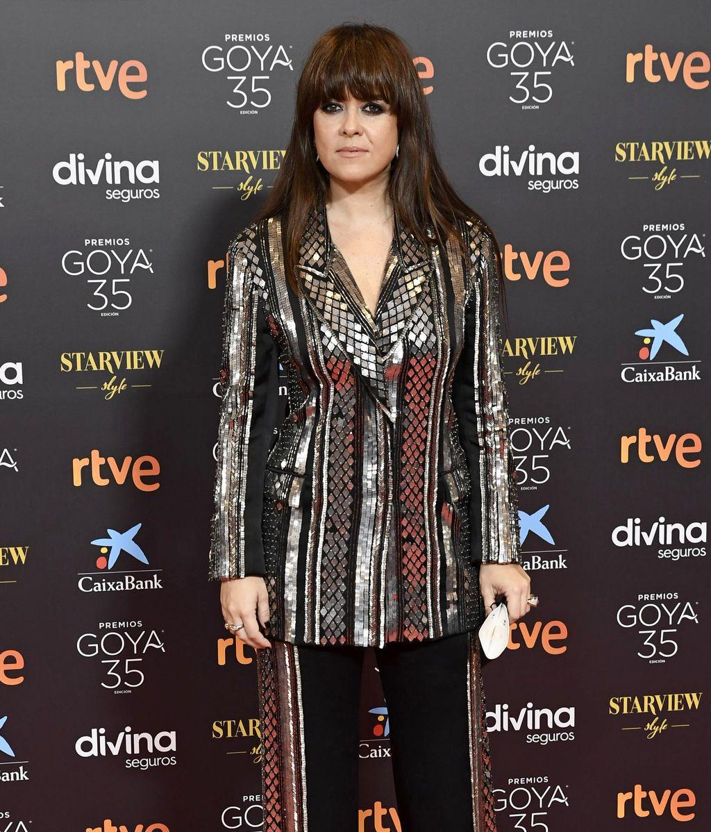 Vanesa Martín en la alfombra roja de los Premios Goya 2021