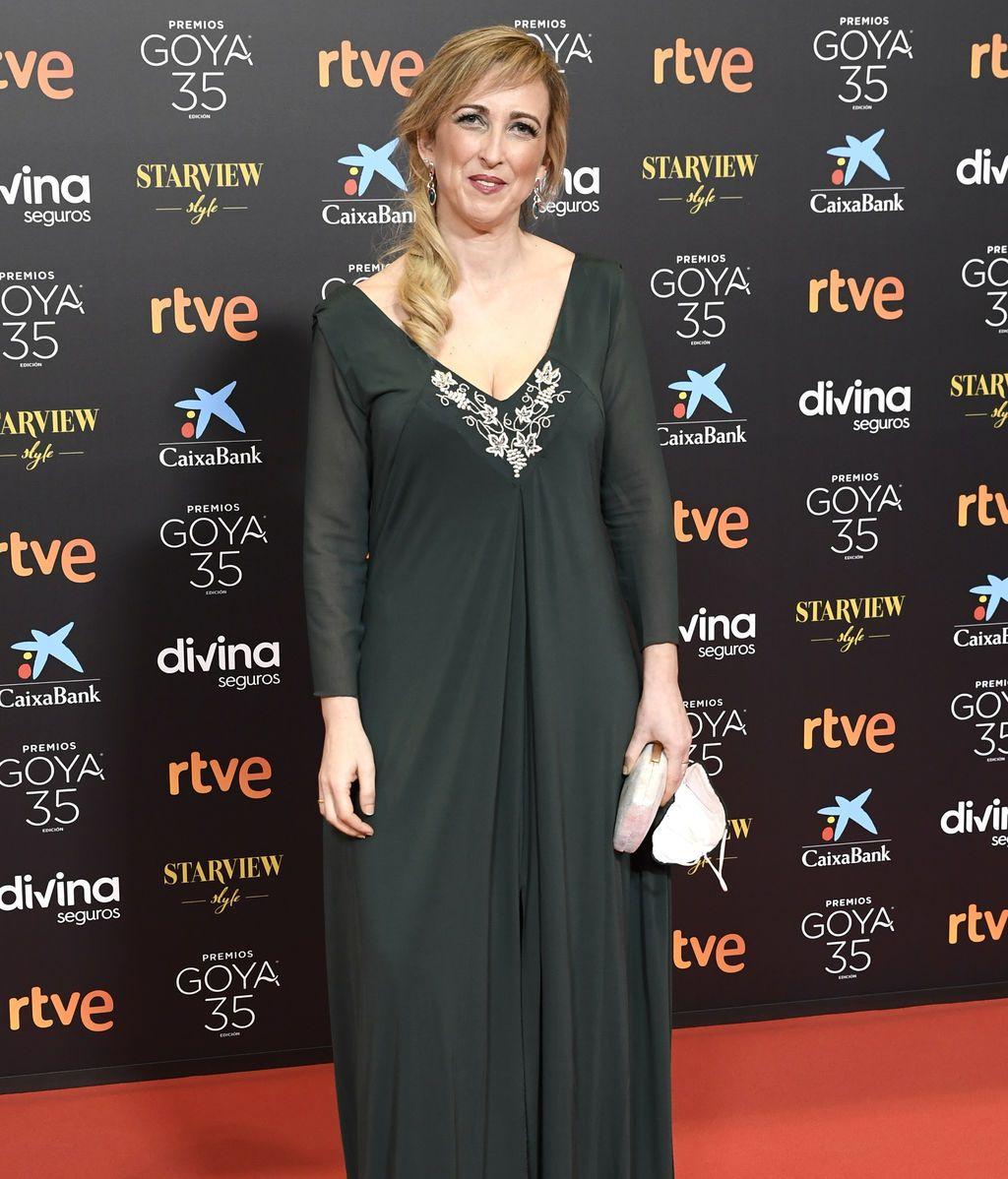 Ana María Ruiz en la alfombra roja de los Premios Goya 2021