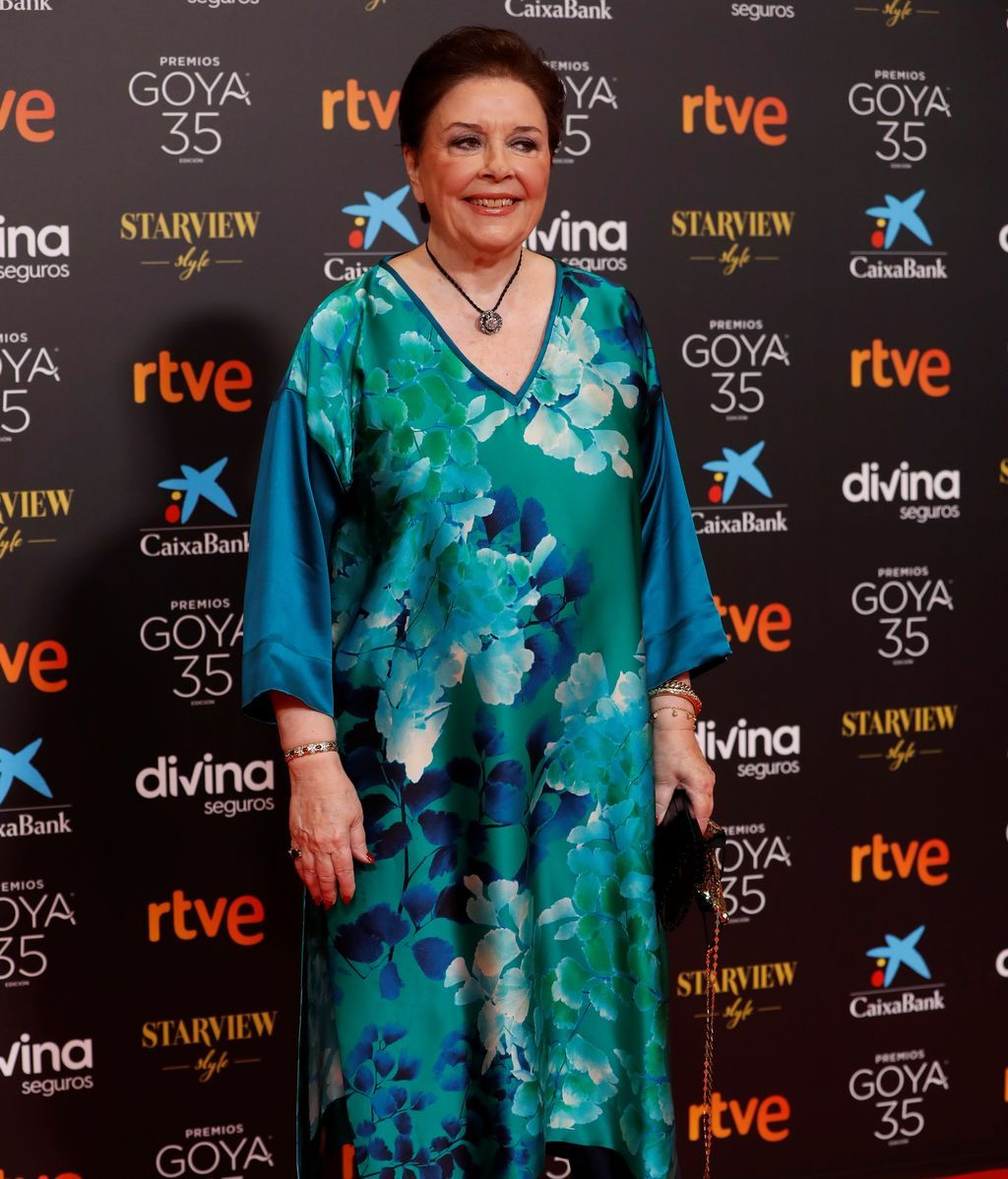 Mónica Randall en la alfombra roja de los Premios Goya 2021