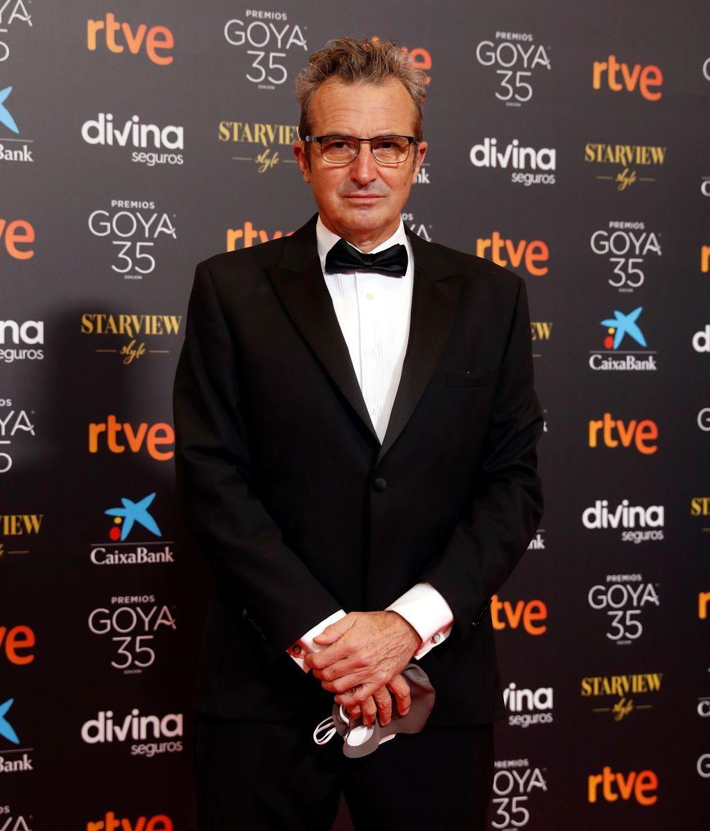 El presidente de la Academia de las Artes y las Ciencias Cinematográficas, Mariano Barroso, en la alfombra roja de los Premios Goya 2021