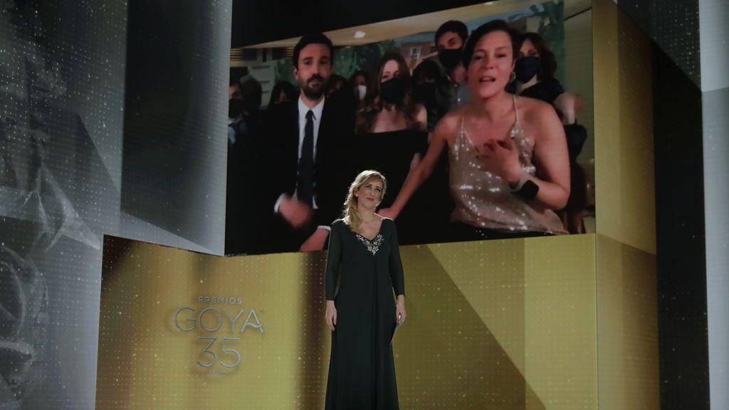 Álex Lafuente, Pilar Palomero y Valerie Delpierre, productores de 'Las niñas'