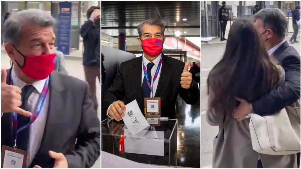"""El equipo de Laporta aclara la polémica con la chica que le pidió la foto: """"Me indignan que se saquen de contexto imágenes"""""""
