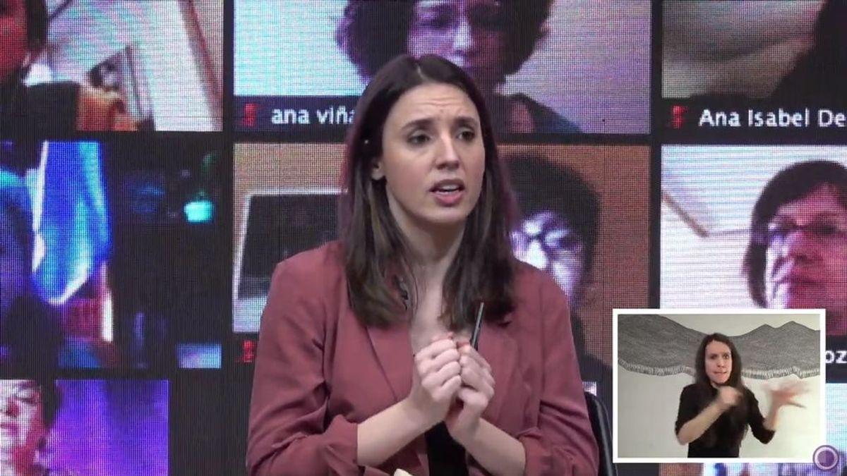 """Montero denuncia una """"operación política"""" de la derecha contra el movimiento feminista"""