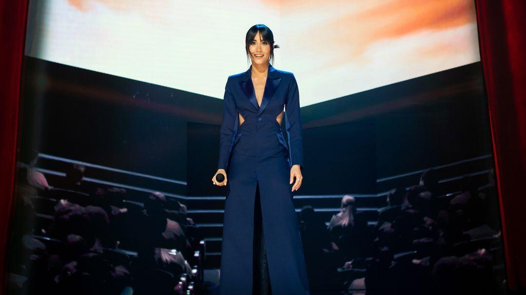Aitana durante su actuación en la gala de la 35 edición de los Premios Goya