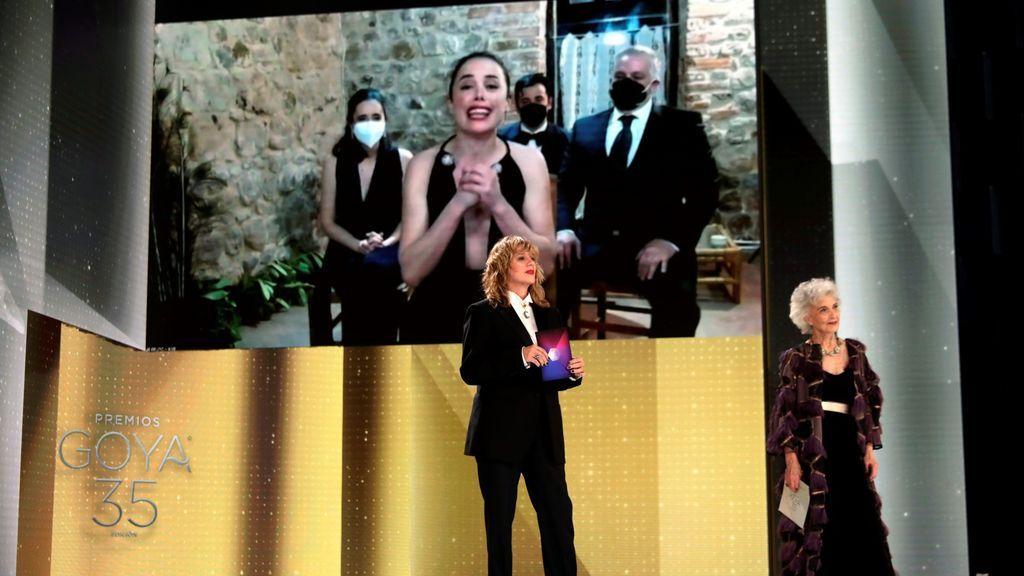 Patricia López Arnaiz recibe el Goya a la Mejor Actriz Protagonista por 'Ane'