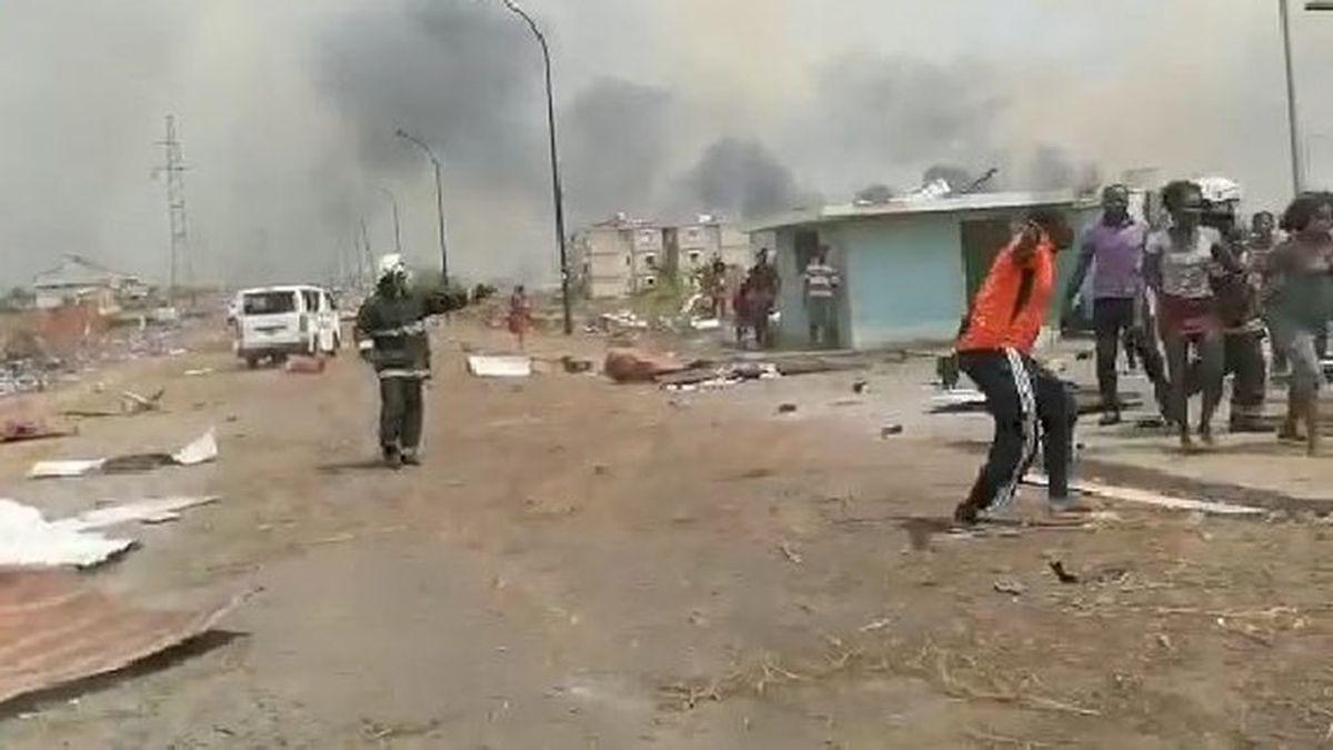 Al menos cinco grandes explosiones sacuden Bata, centro económico de Guinea Ecuatorial