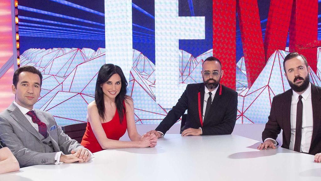 Risto Mejide, Marta Flich, Miguel Lago y Antonio Castelo, en 'Todo es mentira'