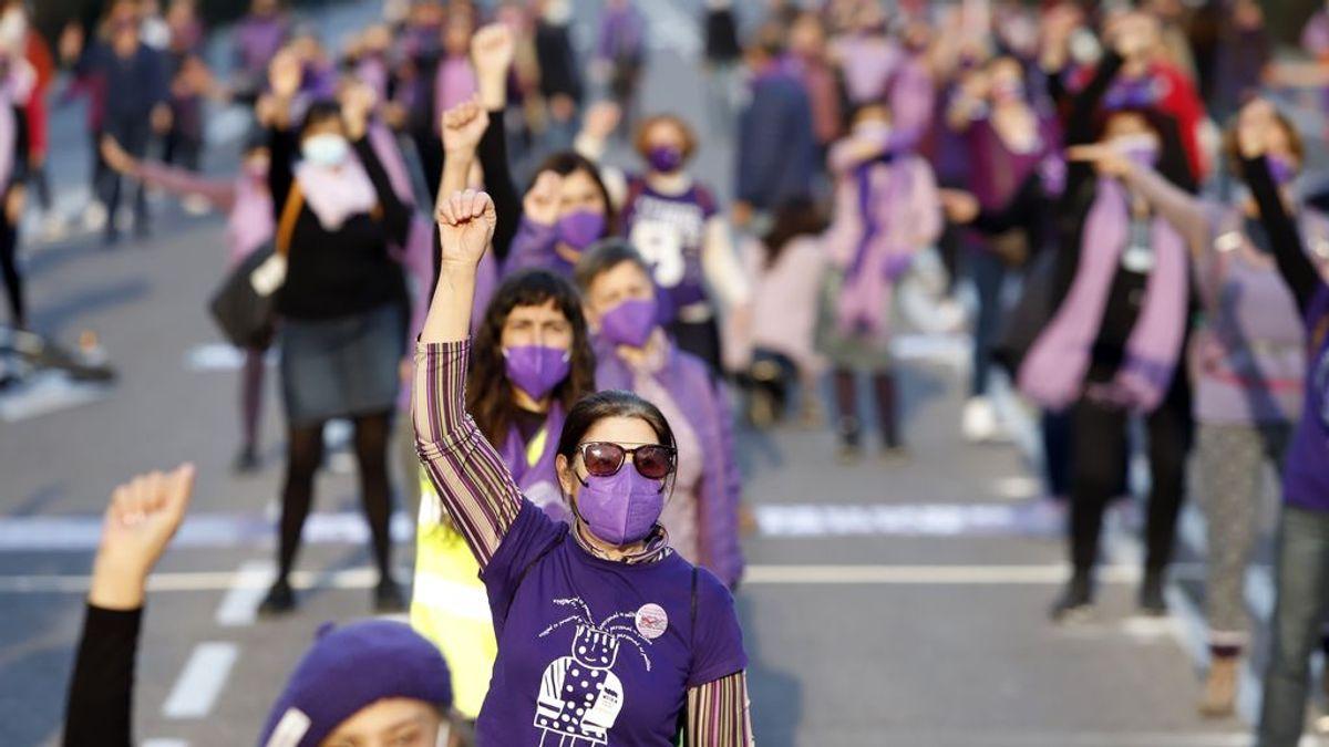 Un 8M con mascarilla: cientos de actos feministas reducidos y sabotajes de la ultraderecha, en el día de la mujer