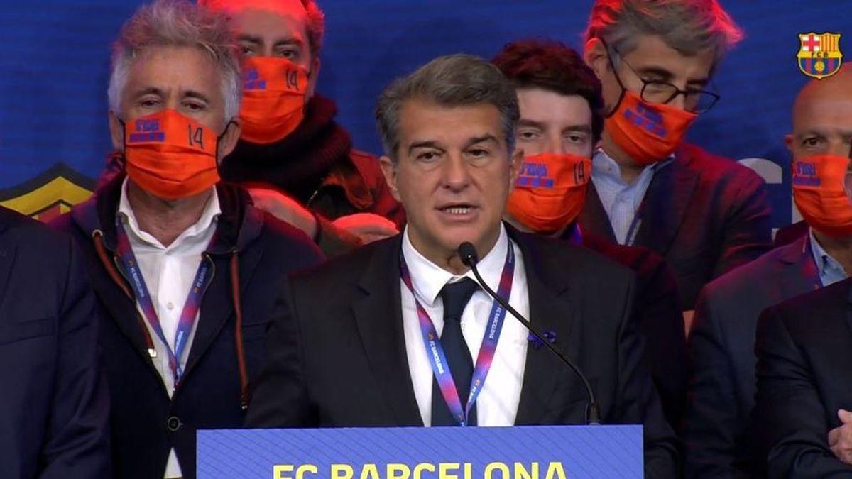 Joan Laporta, tras proclamarse presidente del Barça: