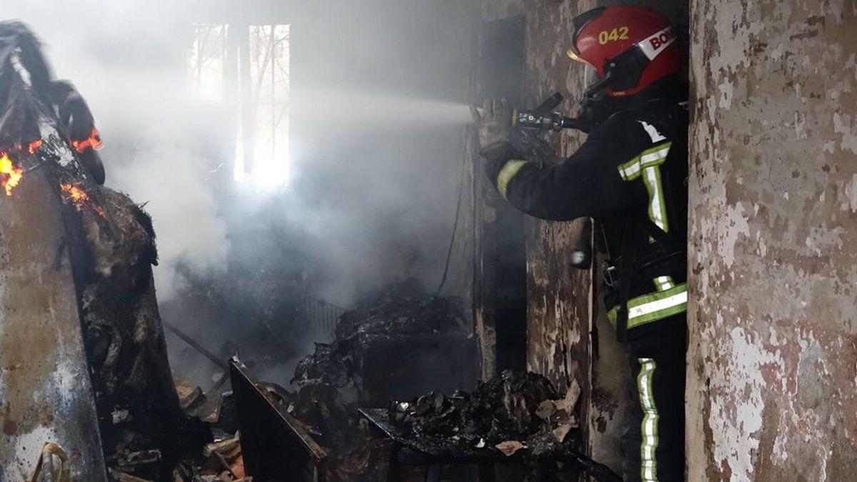 Un hombre de 80 años muere calcinado en el incendio de una vivienda en Castellón
