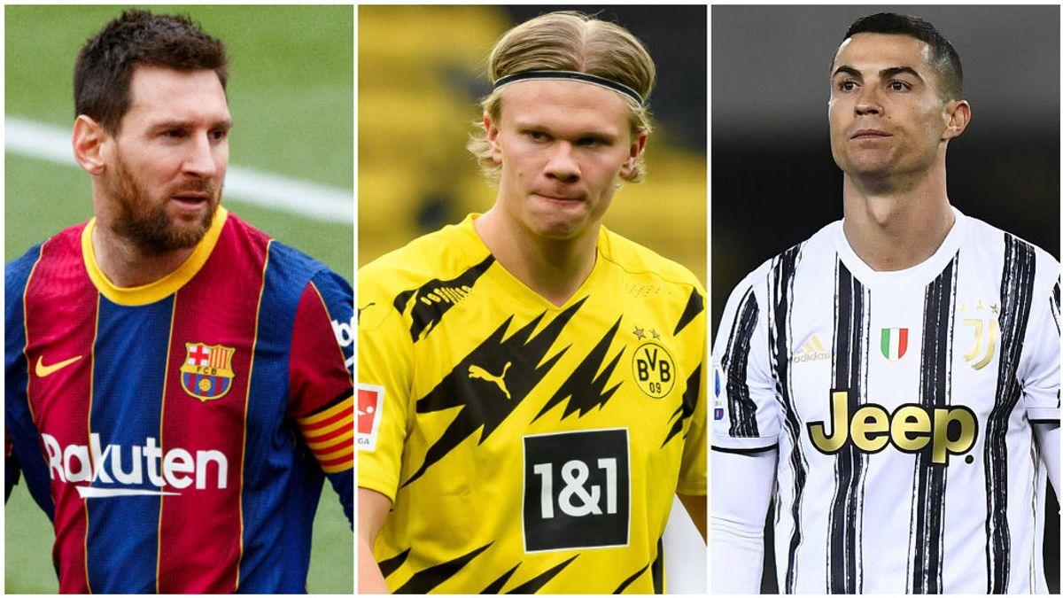 Haaland supera los registros goleadores de Messi y Cristiano.
