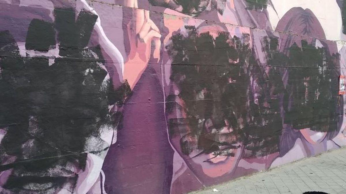 Revolutio, el grupo juvenil de ultraderecha niega estar detrás del ataque al mural feminista en Madrid