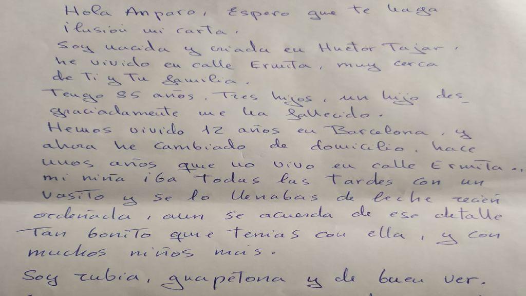 Los abuelos de un pueblo de Granada se mandan cartas tras un año sin verse