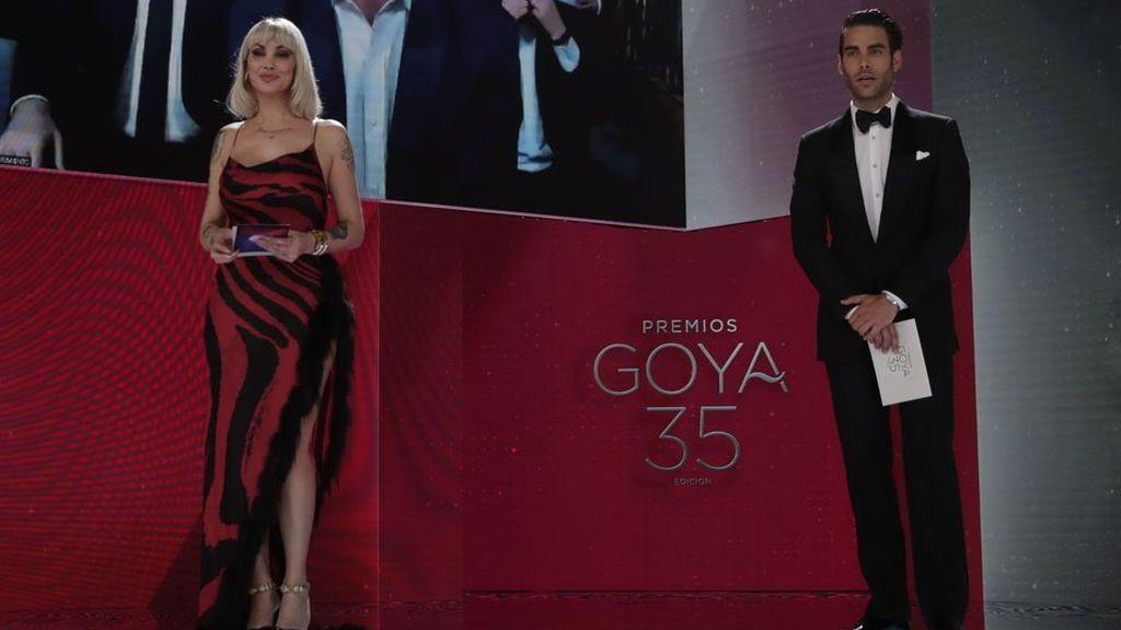 Daniela Santiago y Jon Kortajarena en la Gala de los Premios Goya