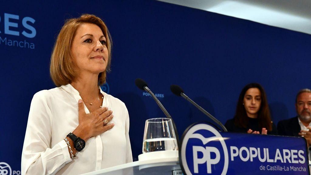 Cospedal acusa a Bárcenas de mentir y le recuerda que aún no le ha pagado los 50.000 euros a los que fue condendo
