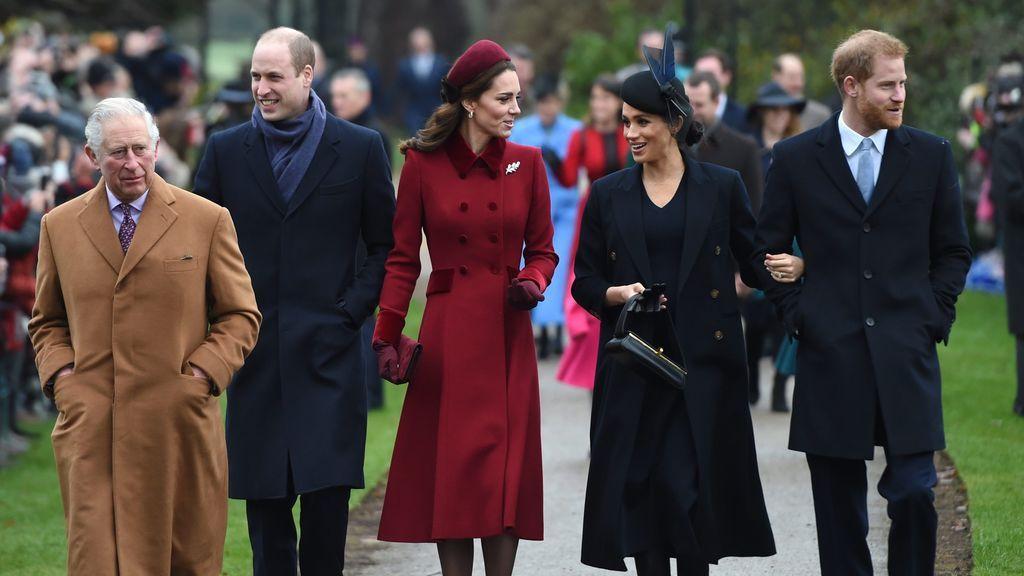 El príncipe de Gales, los duques de Cambridge y los duques de Sussex