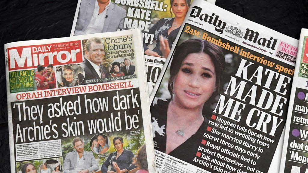 La entrevista de Meghan y Harry copa los titulares de la prensa de todo el mundo