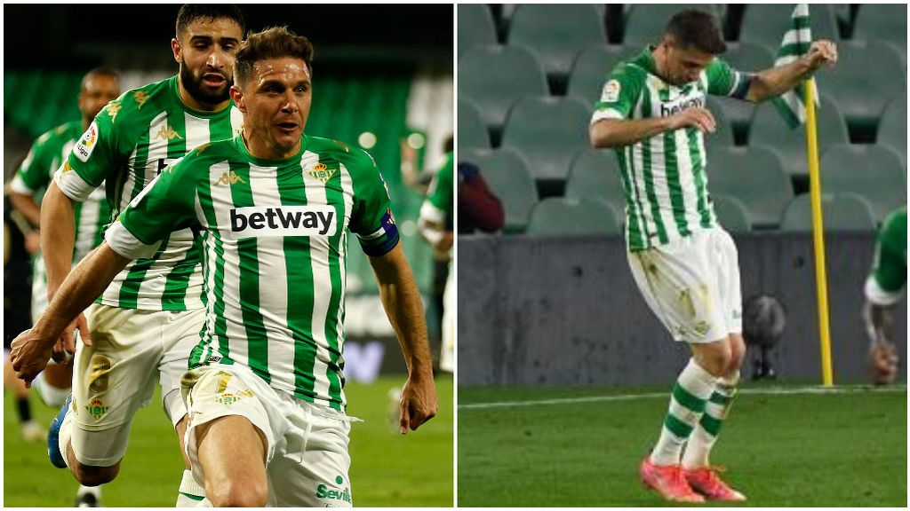 Joaquín hizo un baile de 'TikTok' tras marcar al Alavés.