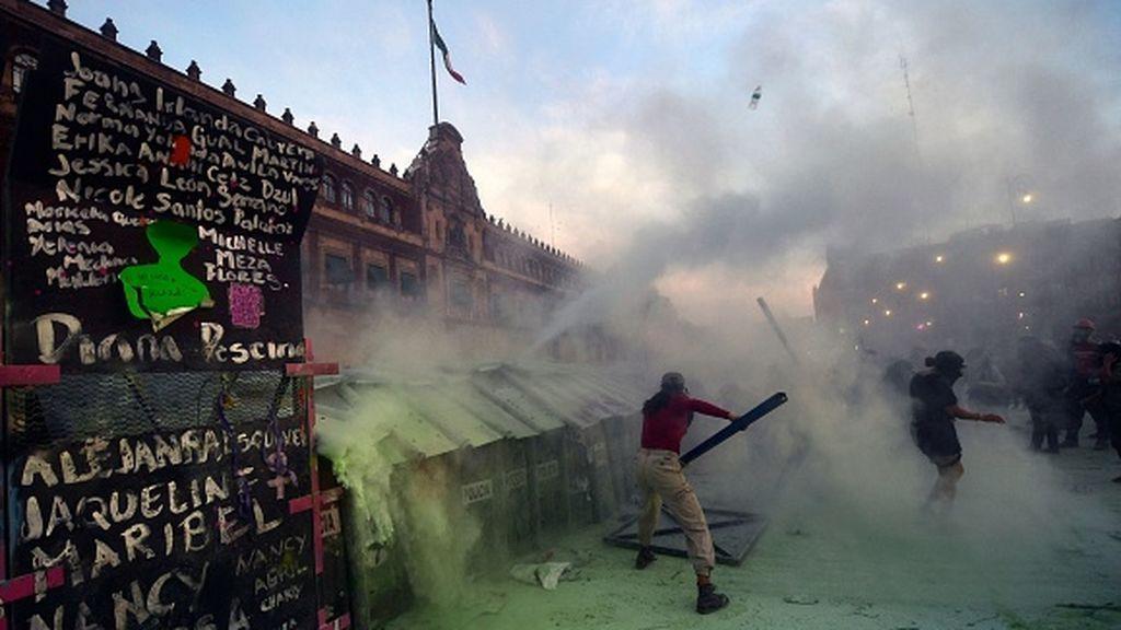 México: más de 80 heridos en la marcha del 8M
