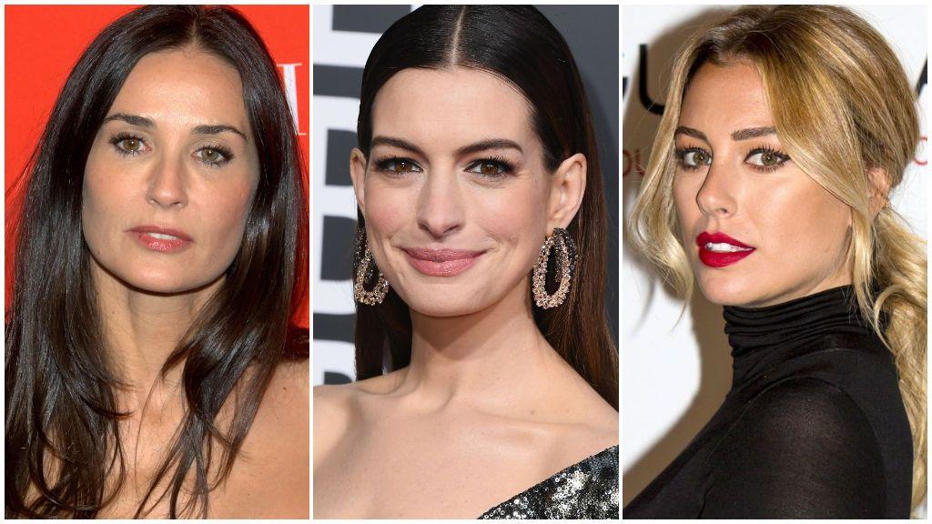 Demi Moore, Anne Hathaway y otras celebrities que cambiaron su color de pelo y la liaron: así fue su antes y su después.