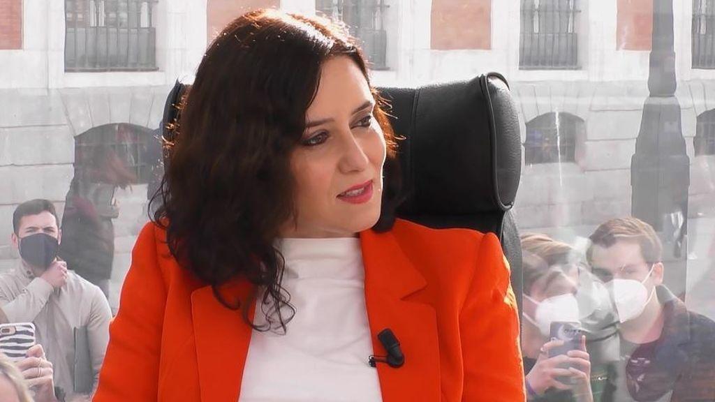 """Isabel Díaz Ayuso: """"Los hombres sufren más agresiones que nosotras"""""""