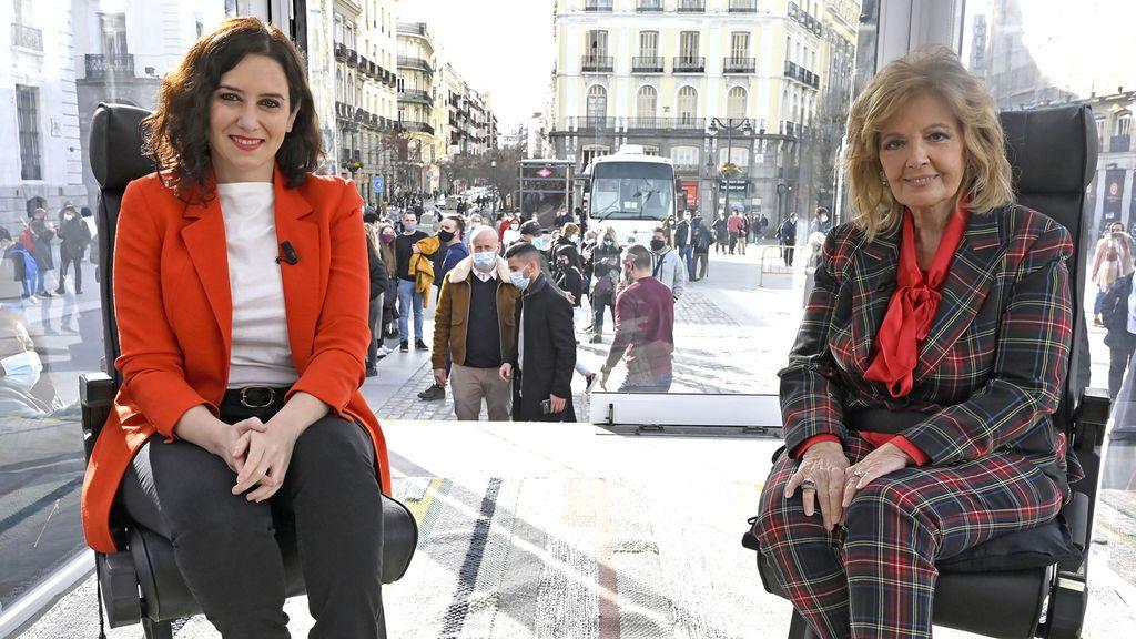 Con Isabel Díaz Ayuso La Campos móvil Temporada 1 Programa 1