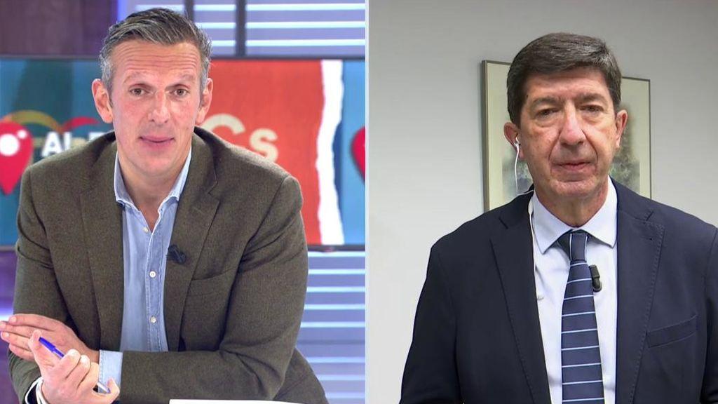 """Juan Marín no va hacer lo mismo que Isabel Díaz Ayuso: """"En la Junta de Andalucía hay calma y coherencia"""""""