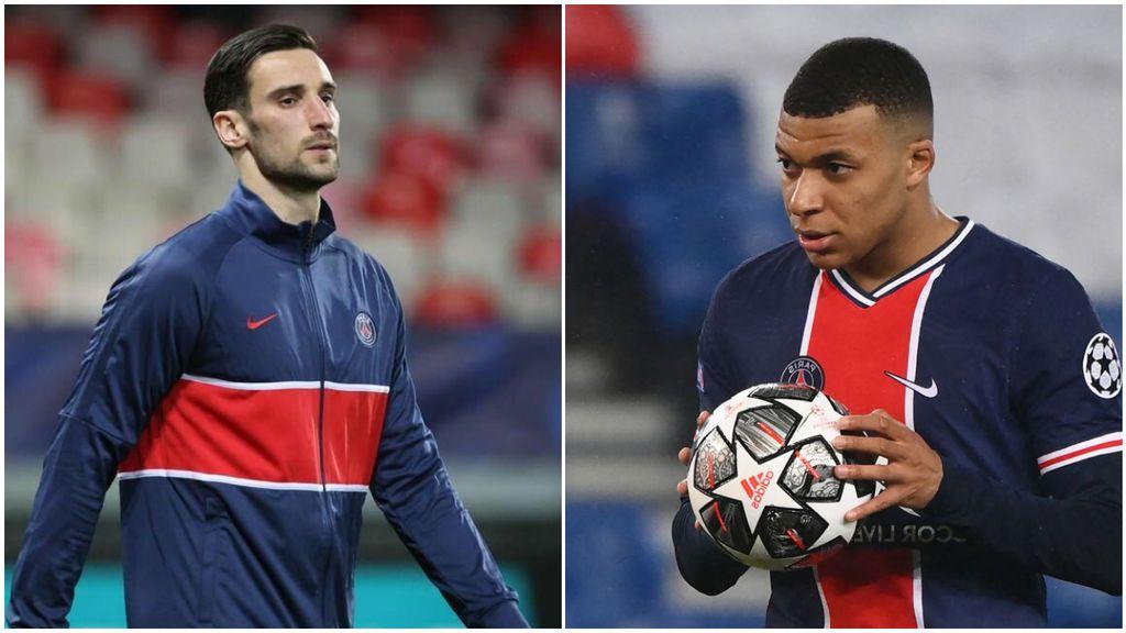Mbappé tuvo un gran gesto con Sergio Rico al dedicarle el gol tras haber fallecido su padre esta semana