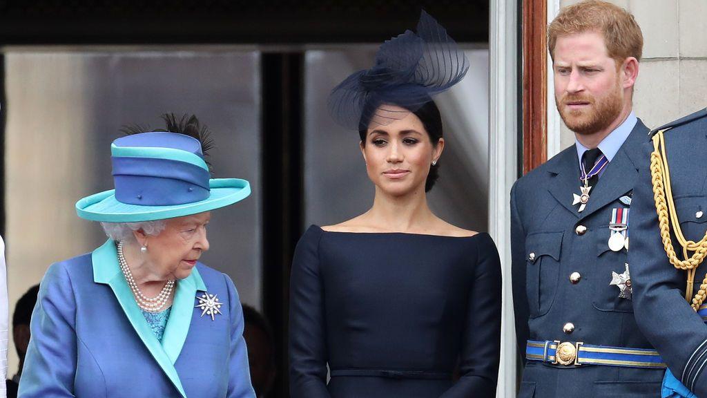 Los duques de Sussex y la reina