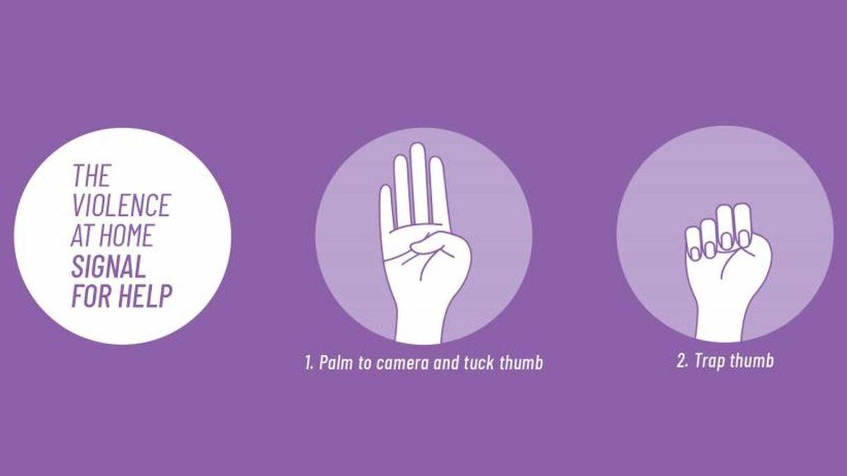 #SeñalDeSocorro: el gesto para las víctimas de violencia machista