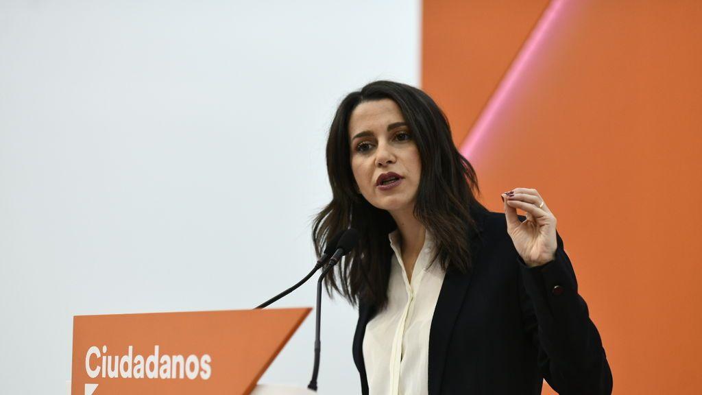 """Arrimadas anticipa que Ciudadanos votará """"no"""" en la moción de censura en Madrid"""