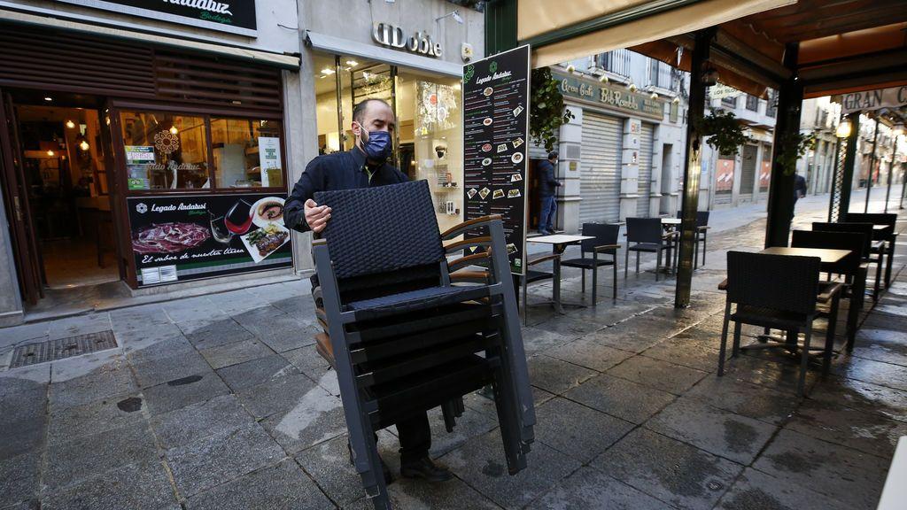 Reapertura de la actividad de la hostelería en Andalucía tras las restricciones impuestas por el covid