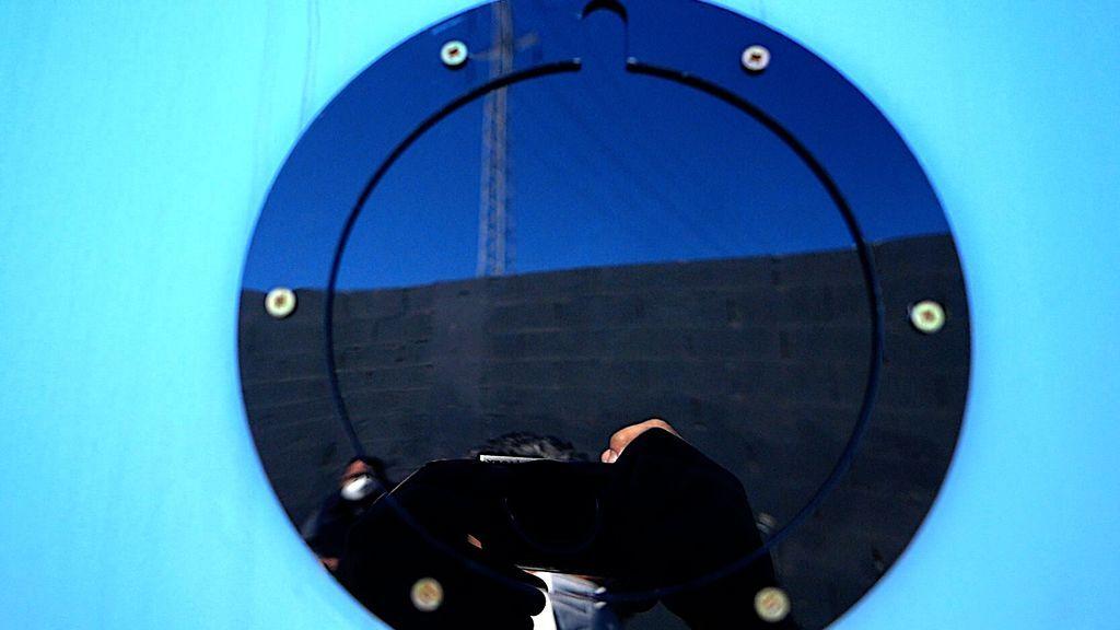 Un ojo de buey de la embarcación semisumergible