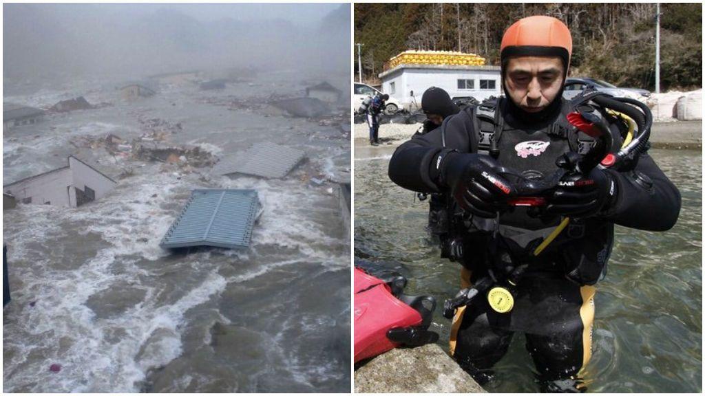 Aprende a bucear a los 64 años para buscar a su esposa desaparecida en un tsunami hace diez años