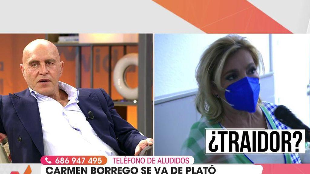Carmen Borrego abandona el plató de 'Viva la vida'