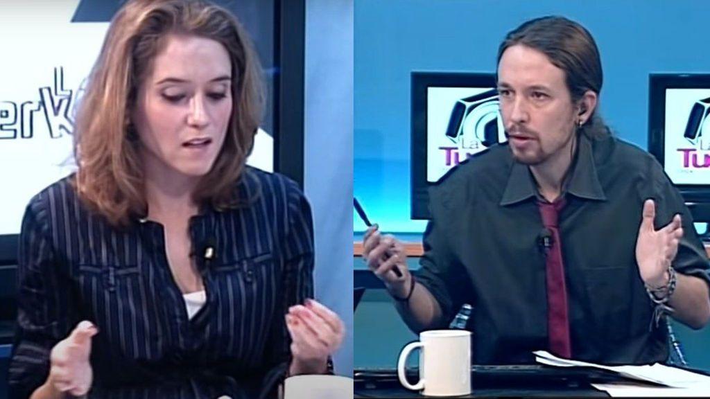 Ayuso e Iglesias, en 2012 en 'La Tuerka'
