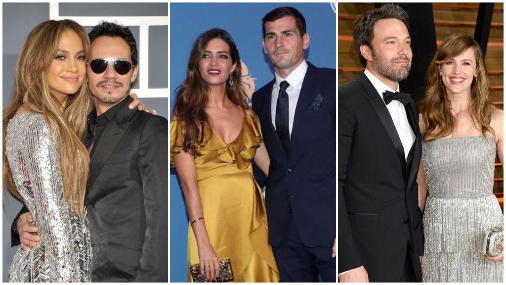 Jennifer López, Marc Anthony, Sara Carbonero e Iker Casillas y otras parejas de celebrities que lograron ser amigos tras su divorcio.