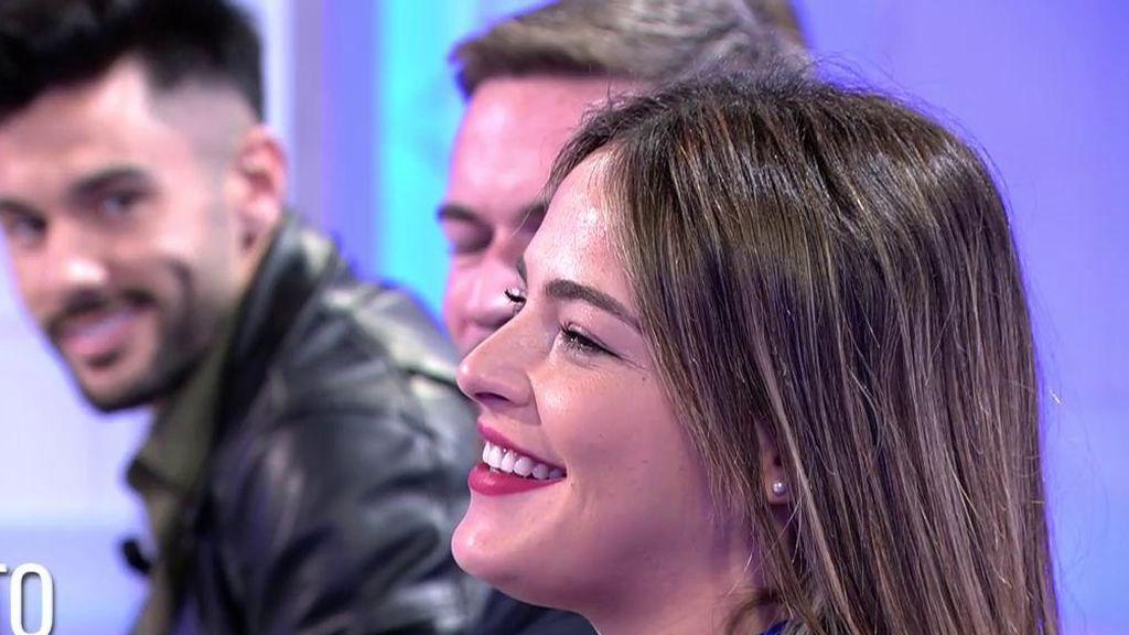 """¡Momentazo! Marta y Peñate y Dani G, su extentador, se reencuentran: """"Le quiero mucho"""""""