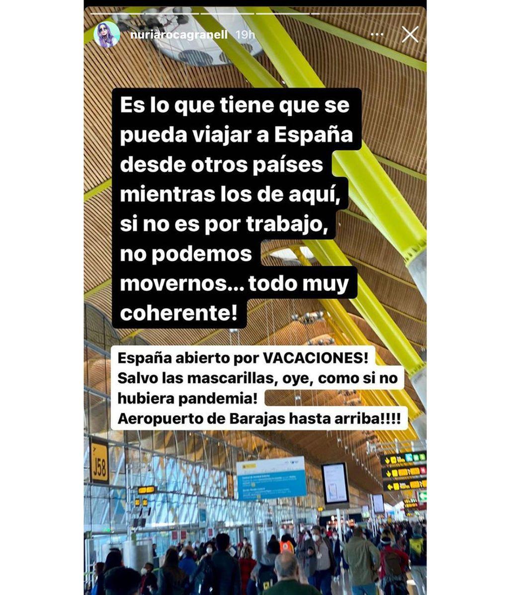 Nuria Roca critica las restricciones de movilidad del Gobierno
