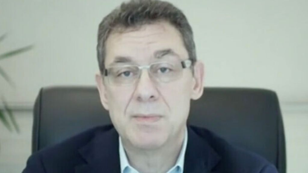 Captura pantalla entrevista Albert Bourla en canal 12 de israel