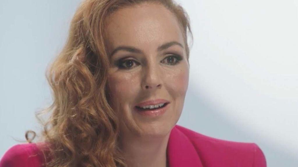 Rocío Carrasco, en un momento de la entrevista