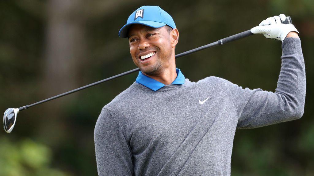 Tiger Woods, en un torneo, antes de sufrir el accidente de coche.