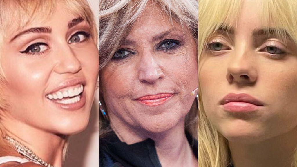 De Lydia Lozano a Miley Cyrus: los parecidos que le han sacado a Billie Eilish tras ponerse rubia platino