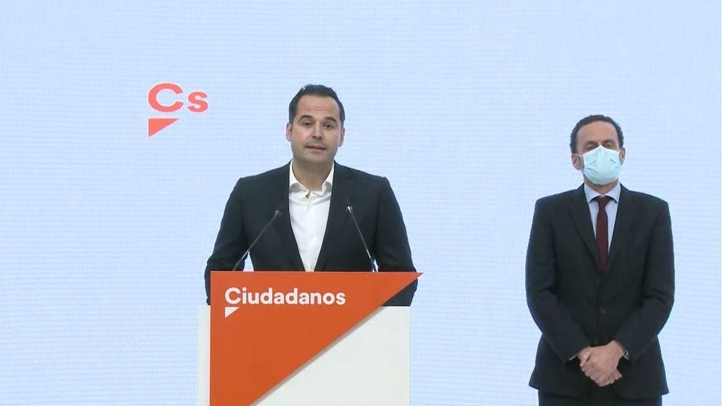 """Ignacio Aguado da """"un paso a un lado"""" para que Edmundo Bal sea candidato de Ciudadanos a la presidencia de Madrid"""