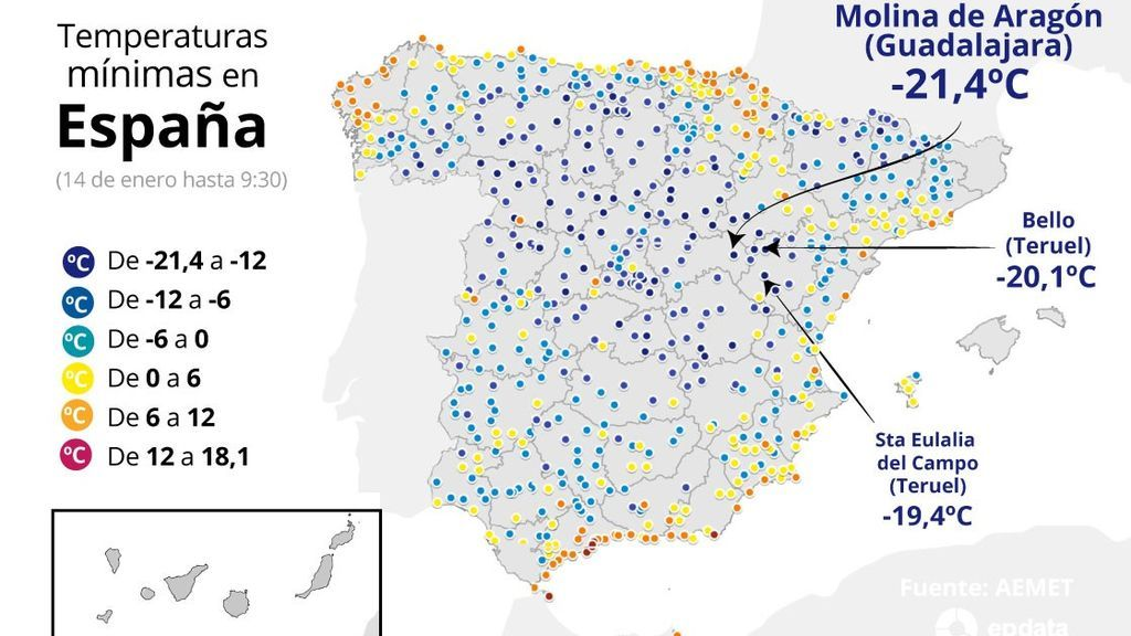 EuropaPress_3516673_mapa_temperaturas_minimas_estaciones_aemet_alcanzadas_14_enero