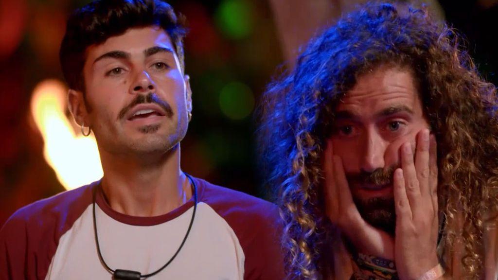 Hugo y Raúl no pueden con más imágenes y estallan en la hoguera