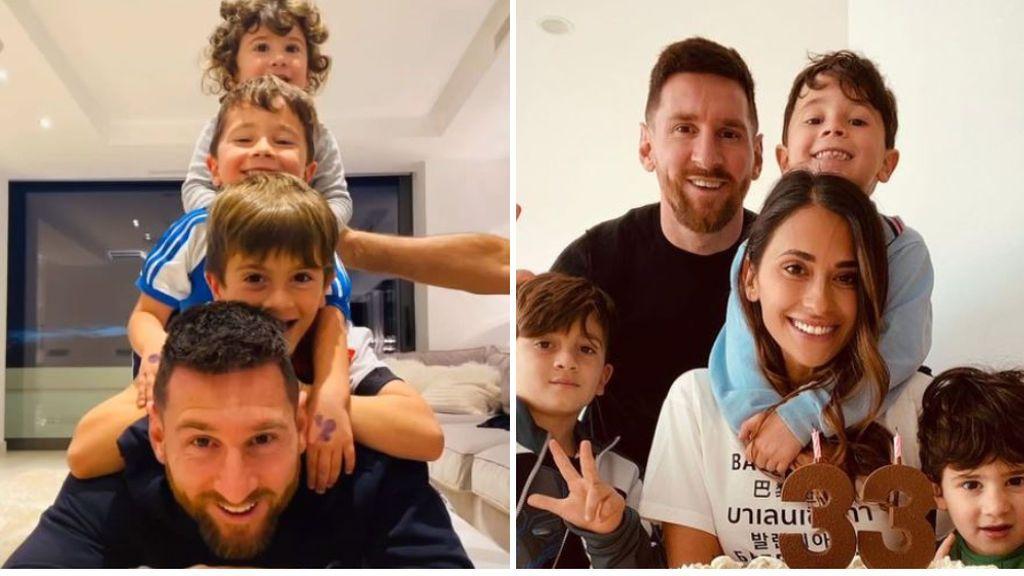 """La felicitación de los hijos de Messi por el Día del Padre: """"Te amamos, papi"""""""
